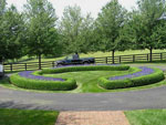 Circular Drive with Walk-In Flower Beds